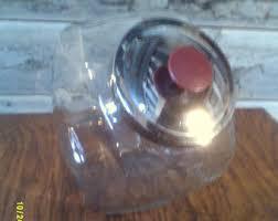 vintage slanted cookie jar etsy