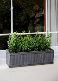 outdoor pots u0026 planters metal and wooden industrial garden