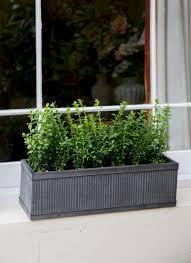 Planters And Pots Outdoor Pots U0026 Planters Metal And Wooden Industrial Garden