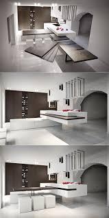 kitchen white exposed brick walls also slide away kitchen island
