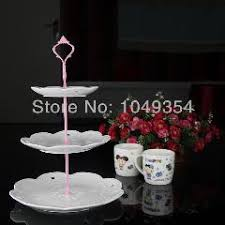pink color 3 tiers cake stands for wedding cakes 130 sets