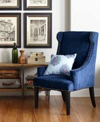 Blue Accent Chair Gwen Accent Chair Direct Ship Furniture Macy S