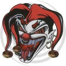 crazy devil clown tattoo design