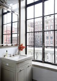Gray Vanity Bathroom Park Avenue Apartment Peter Pennoyer Architects