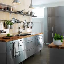 stainless steel kitchen cabinets ikea stainless kitchen design by ikea 49 more than ideas