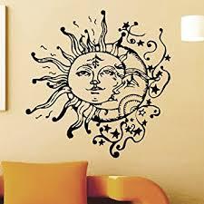 vinyl wall sticker decals sun crescent ethnic dual symbol moon decal
