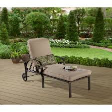Outdoor Chaise Lounge Chairs With Wheels Better Homes And Gardens Verona Bay Outdoor Chaise Lounge With
