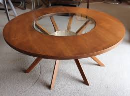 Mid Century Modern Glass Coffee Table Mid Century Modern Broyhill Brasilia Walnut Glass Cathedral Coffee