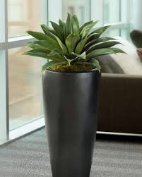 Fake Plants Lifelike Broad Leaf Agave Artificial Succulent Plant At Petals