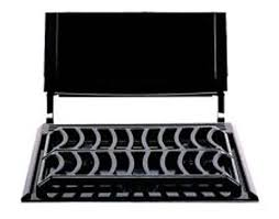 atwood 54106 new style black bi fold stove cover