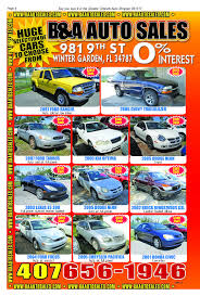 b u0026 a auto sales in winter garden fl 34787 view our print ads