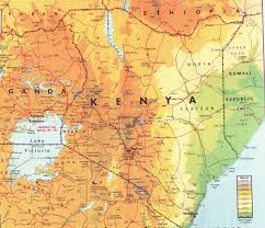 Map Of Africa Physical by Maps Of Kenya Map Library Maps Of The World