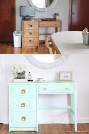 Contact Paper Desk Makeover 67 Furniture Makeovers To Inspire Your Thrifting Side Curbly