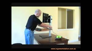 Kangaroo Adjustable Height Desk by Kangaroo Pro Ergo Desk Top Youtube