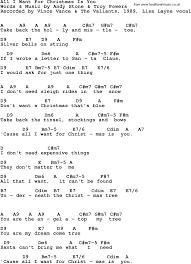 song lyrics with guitar chords for all i want for christmas is you
