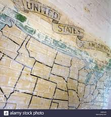 ww2 wall map mural showing american states at the former flixton stock photo ww2 wall map mural showing american states at the former flixton air force base in suffolk england more caption detail in description