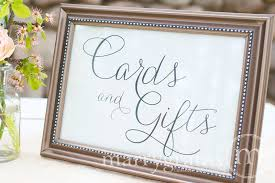 wedding gift table ideas cards and gifts wedding reception sign thin style