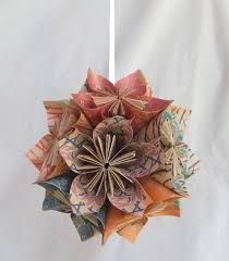 origami flower ornament the tree