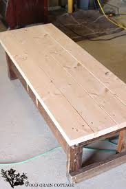 outdoor coffee table makeover the wood grain cottage