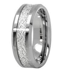 meteorite wedding band meteorite ring tungsten carbide for men 8mm comfort fit wedding band