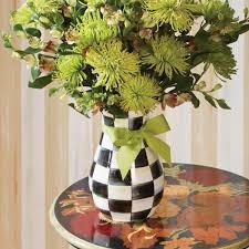 Enamel Vase Mackenzie Childs Courtly Check Tall Enamel Vase Online