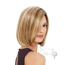 short brown hair with light blonde highlights classical piano color light brown mix blonde short bob wig