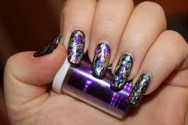 nail foil design nails by nataliya