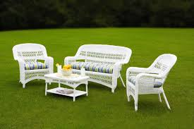 Garden Table And Chairs Ebay Tortuga Portside Coastal White Wicker Conversation Set Ps 3379