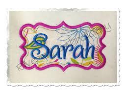 applique name or monogram frame machine embroidery design 8