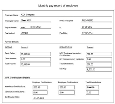 salary slip format for contract employee 41 excellent salary slip