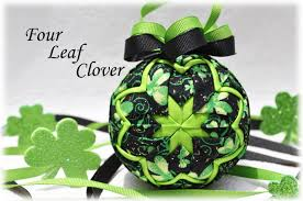 four leaf clover quilted ornament kit