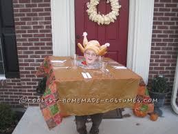 creative turkey on thanksgiving table costume idea