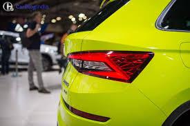 yellow volkswagen karak highway skoda kodiaq india price 27 lakh launch 2017 specs interior
