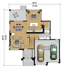 multi level floor plans multi level modern house plan 80840pm architectural designs