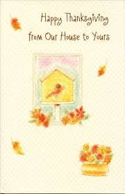 birdhouse thanksgiving card by freedom greetings
