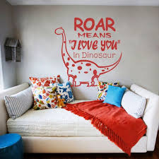 amazon com roar means i love you dinosaur wall decal kids amazon com roar means i love you dinosaur wall decal kids room wall decal x large orange baby