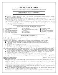 project coordinator resume format absolutely design logistics