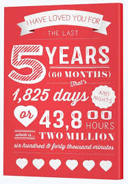 five year wedding anniversary gift 5 year anniversary gift ideas canvas factory