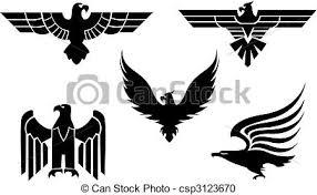 eagle tattoo clipart eagle tattoos eagle symbol isolated on white for tattoo vector