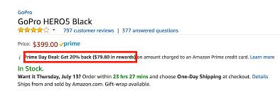 amazon gopro black friday get 20 back in amazon rewards on thousands of items with your