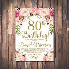 80th birthday invitations 80th birthday invitation for women 80th birthday invitation