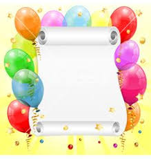 free birthday powerpoint template with balloons and blue