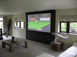 in home theater 3 examples of clever projection screen installations