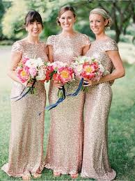 gold bridesmaid dresses buy chic mermaid floor length sequins gold bridesmaid dress with