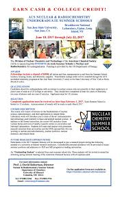 San Jose State University Campus Map by National Nuclear Chemistry Summer Schools Chemical U0026 Materials