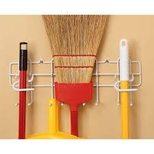 Closetmaid White Closetmaid White Steel Broom And Mop Holder Free Shipping On
