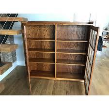 Oak Bedroom Furniture Mission Style Restoration Hardware Mission Style Oak U0026 Glass Bookcase Aptdeco