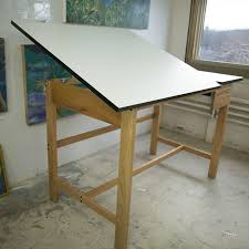 Mayline Oak Drafting Table Alvin 37 5