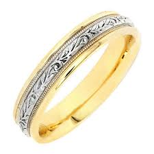 wedding ring depot 14k two tone gold vine floral band 4 7mm 3005518 shop at