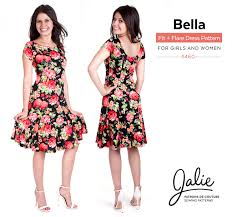 dress pattern fit and flare new collection the bella fit and flare dress